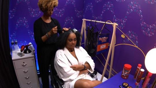 Rízia avisa  sobre a Transformação Embelleze: 'Vou ficar do jeito que eu estou até a Final'