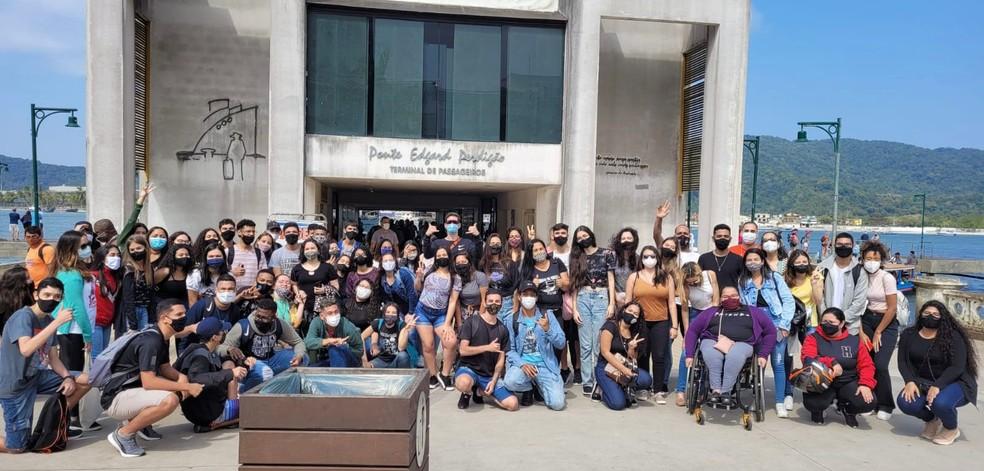 Professor promoveu encontro após mais de um ano de aulas virtuais — Foto: Arquivo Pessoal/José Angelo Alvarez