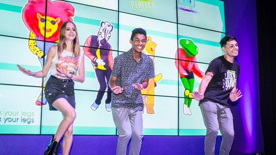 Rock in Rio: Isabella Scherer e Juan Paiva dançam na Game XP