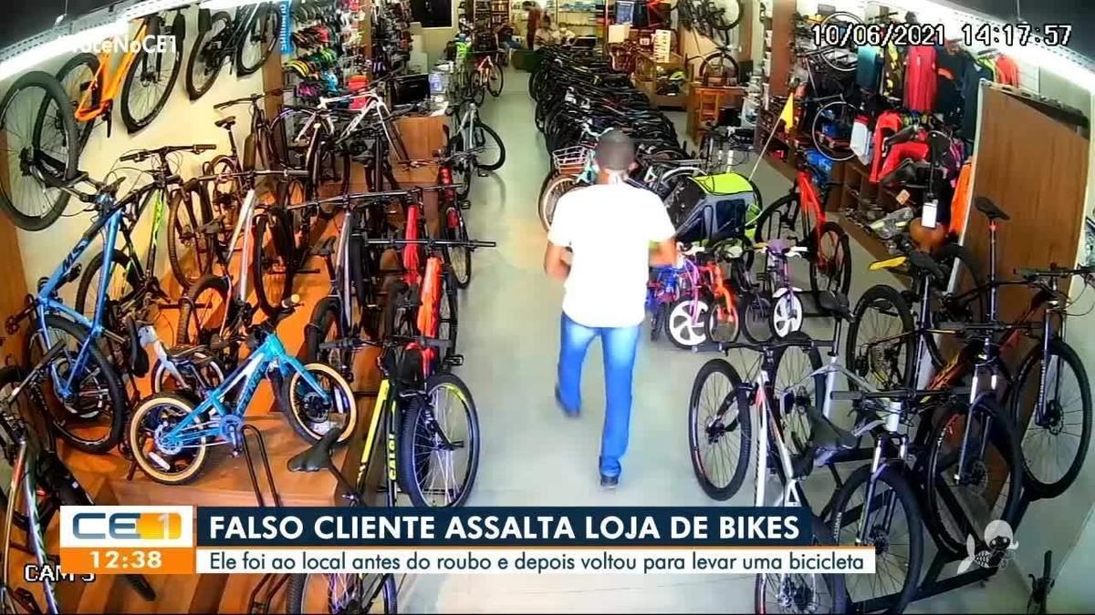 Suspeito de fingir ser cliente e roubar bicicleta é preso em Fortaleza
