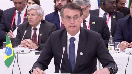 No primeiro dia do G20, Bolsonaro diz que Brasil permanece no Acordo do Clima