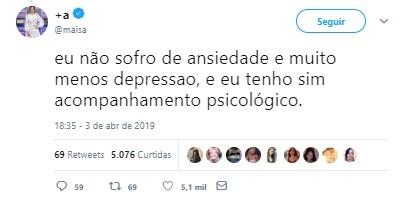 Maisa Silva (Foto: Instagram/Reprodução)