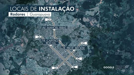 Novos radares começam a ser instalados, em Guarapuava