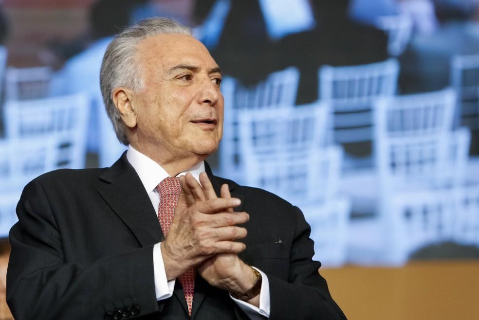 O ex-presidente Michel Temer — Foto:  Alan Santos/PR