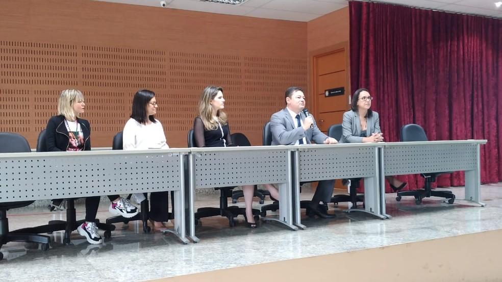 A audiência foi promovida pelo Núcleo de Enfrentamento à Violência contra a Mulher (NEVM) do MPPA (Foto: Ascom MPPA/Divulgação)