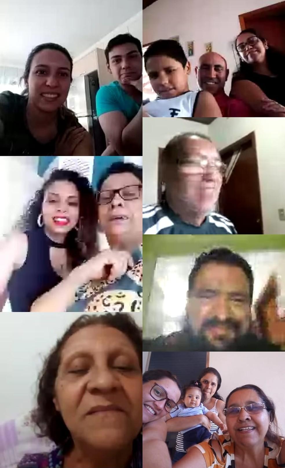 Reunião virtual no Dia dos Pais emocionou familiares em Garça e outras partes do país — Foto: Arquivo pessoal