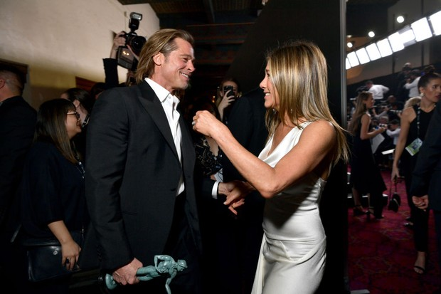LOS ANGELES, CALIFORNIA - JANUARY 19:  (EXCLUSIVE COVERAGE) Brad Pitt and Jennifer Aniston attend the 26th Annual Screen Actors Guild Awards at The Shrine Auditorium on January 19, 2020 in Los Angeles, California. 721313 (Photo by Emma McIntyre/Getty Imag (Foto: Getty Images for Turner)