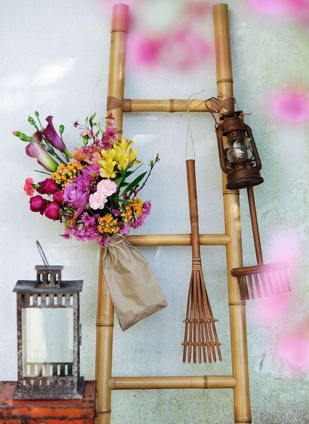 Receber com flores (Foto: Cacá Bratke)