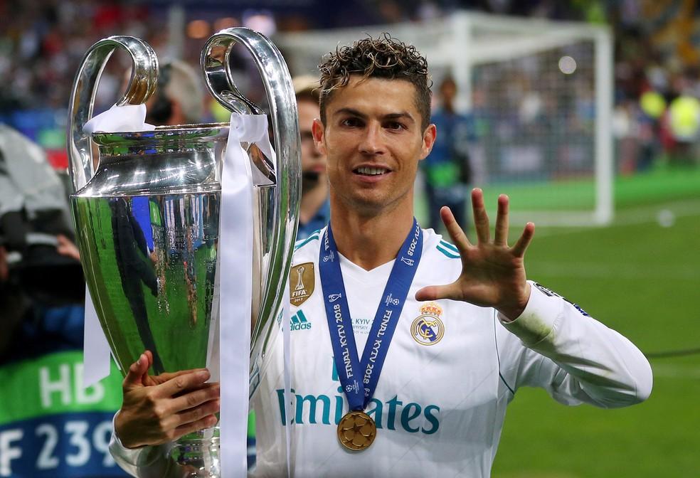 Cristiano Ronaldo, cinco vezes campeão da Champions League, ganhou o torneio quatro vezes pelo Real Madrid (Foto: REUTERS/Hannah McKay)