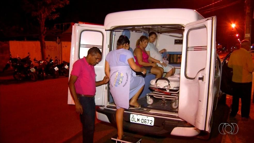 Grávidas são transferidas do Hospital Dona Regina para o Hospital de Miracema, a 80 quilômetros (Foto: Reprodução/TV Anhanguera)