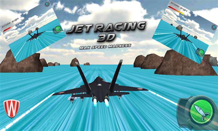 Jet Racing 3D desafia a velocidade e reflexo dos jogadores (Foto: Divulgação/Windows Phone Store)
