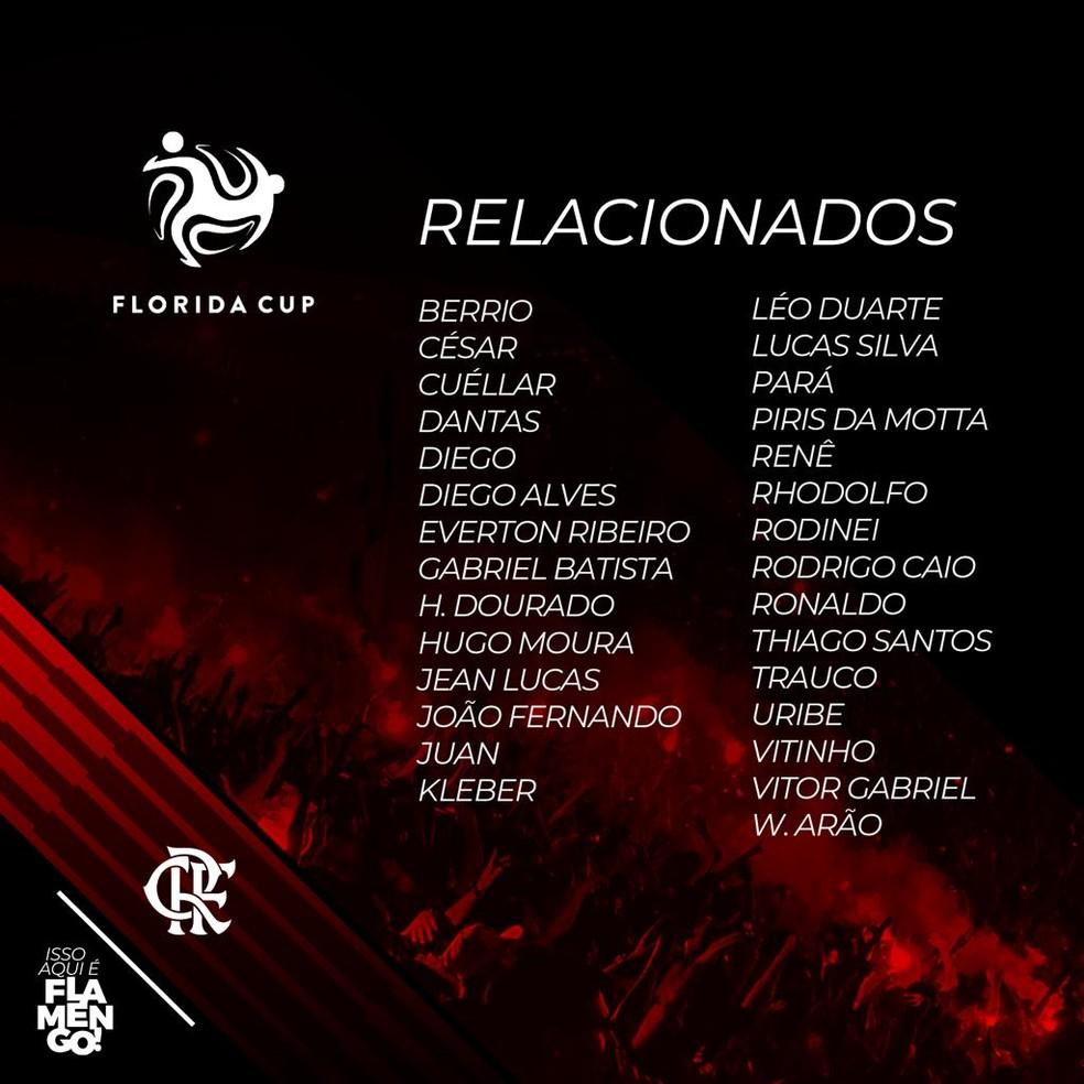 Flamengo Embarca Para Os Estados Unidos Com 29 Jogadores