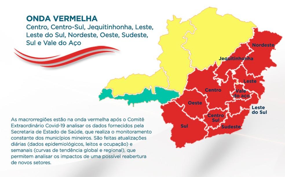 Comitê estadual da Covid-19 mantém Sul de Minas na onda vermelha do Minas Consciente  — Foto: Divulgação/Governo de MG