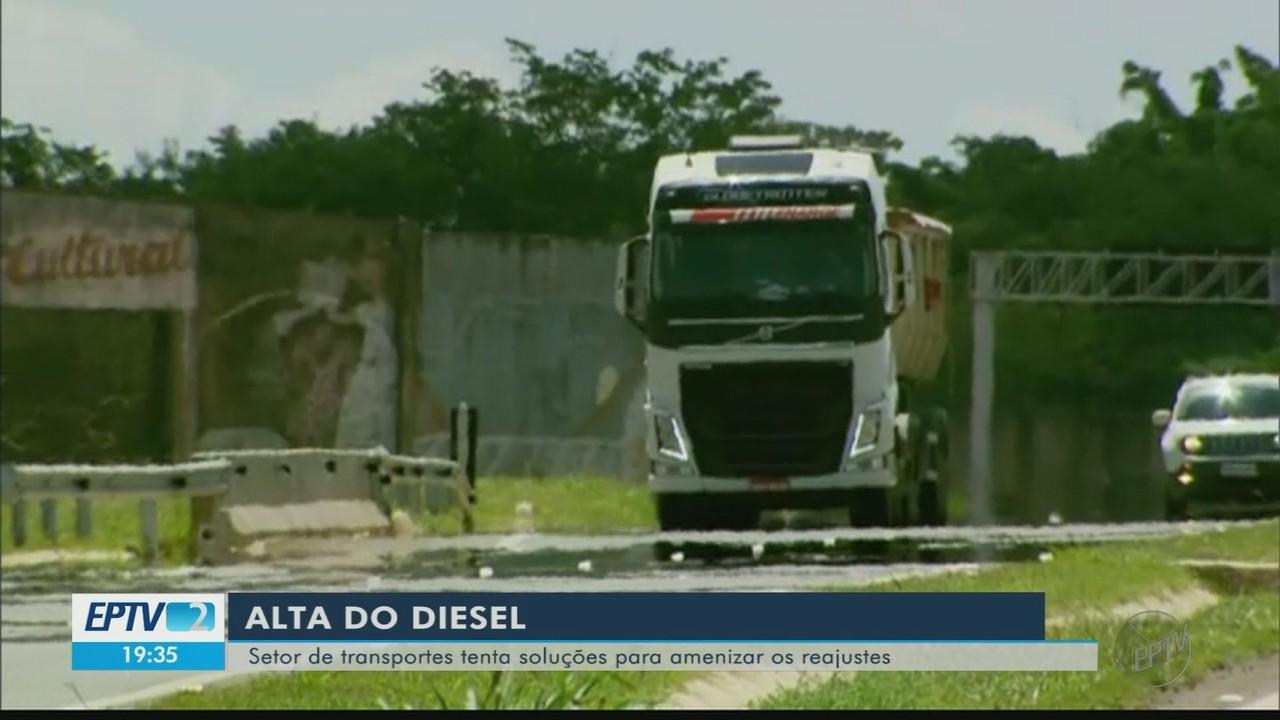 Setor de transportes tenta soluções para amenizar reajustes do diesel