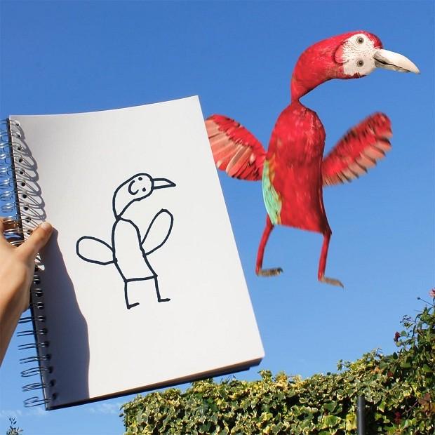 E que tal esse pássaro?  (Foto: Reprodução/Instagram)