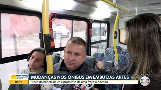 Mudanças nos ônibus em Embu das Artes