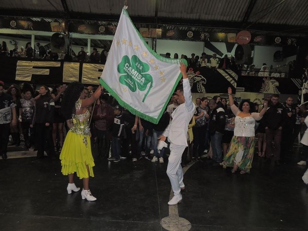 Pavilhão da Camisa Verde e Branco na quadra da Gaviões da Fiel em festa  — Foto: Arquivo pessoal