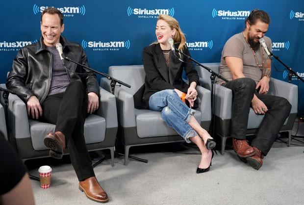Patrick Wilson, Amber Heard e Jason Momoa (Foto: Getty Images)