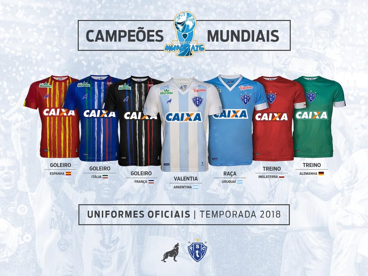 Paysandu lança nova linha Lobo com homenagem a seleções campeãs mundiais  a9a3dbd00880a