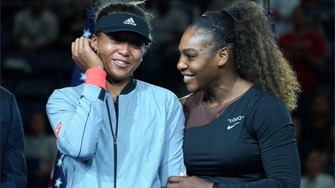 Serena Williams perdeu para Naomi Osaka na final do US Open no último sábado (Foto: AFP/Getty Images via BBC)