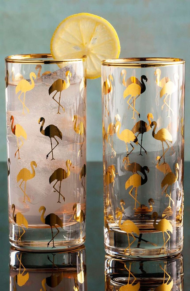 Copos highball Flamingo, na Nordstrom, US$ 104