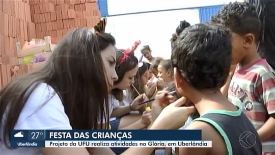 Crianças do assentamento 'Glória' em Uberlândia recebem festa