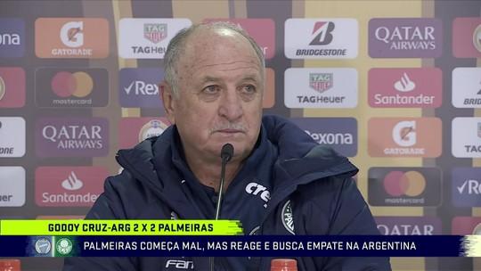 """Felipão elogia Palmeiras em empate e mira Henrique Dourado: """"Tomara que tenha acertado"""""""