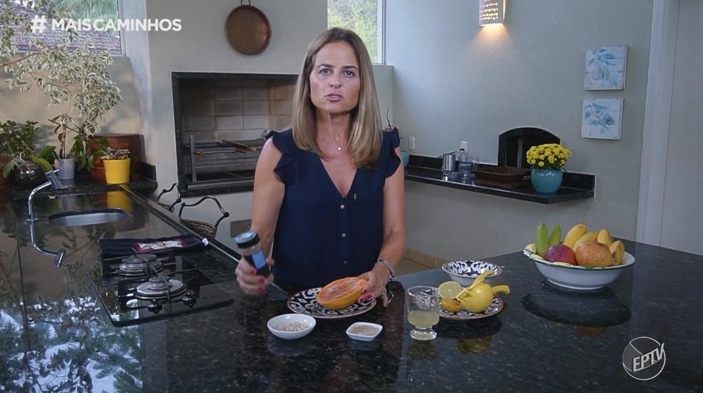 Nutricionista Beatriz Piccolotto dá dica para consumir mais frutas no dia a dia! — Foto: EPTV