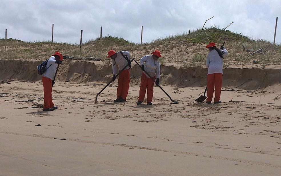 Limpeza está sendo realizada na região — Foto: TV Sergipe