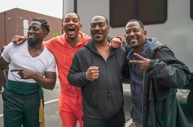 Wesley Snipes, Will Smith, Eddie Murphy e Martin Lawrence (Foto: Instagram)