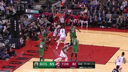 Kawhi se agiganta, ganha gritos de MVP, e Raptors superam bom jogo coletivo dos Celtics