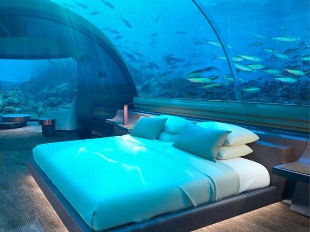 Ilhas Maldivas terão hotel subaquático ainda este ano (Foto: Divulgação/The Conrad Maldives Rangali Island)