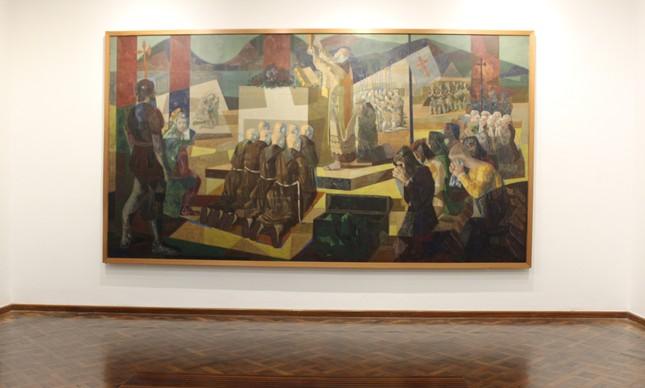 'A 1ª missa no Brasil', de Candido Portinari, já  está exposta no MNBA