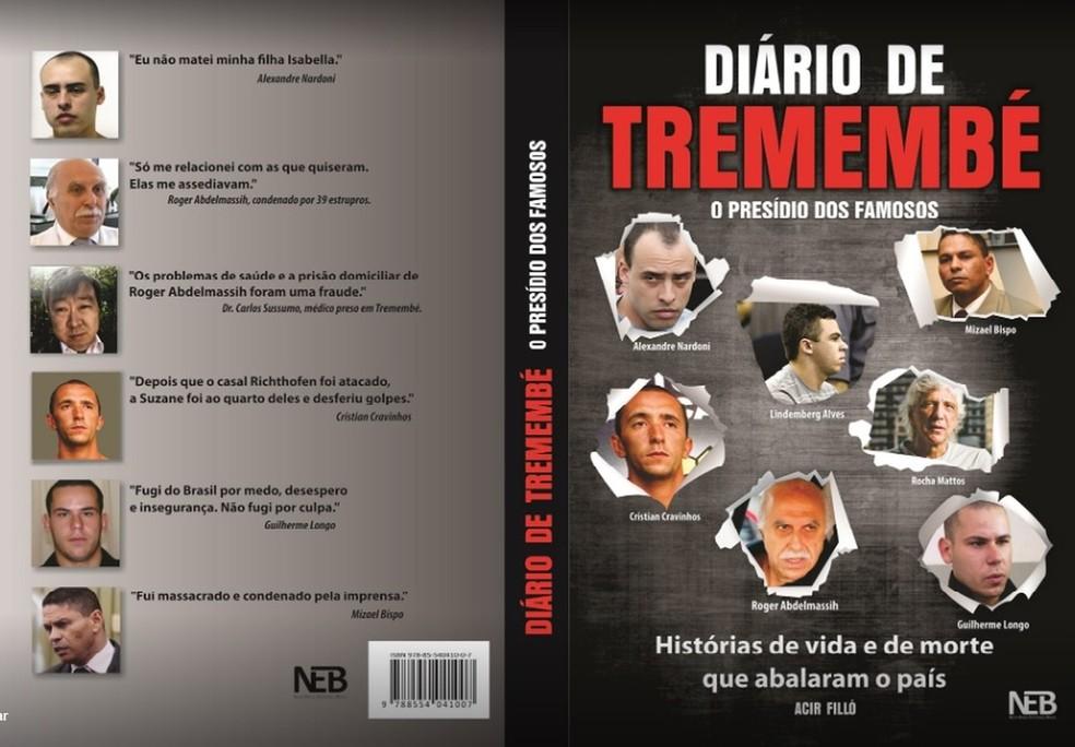 Capa e contracapa de livro de Acir Filló, alvo de investigação da Justiça — Foto: Reprodução