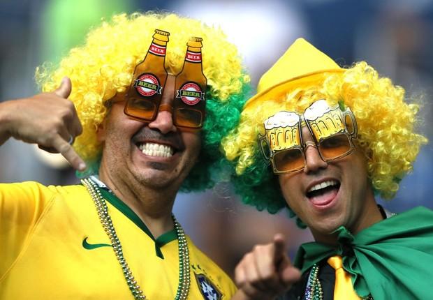 Brasileiros torcem pela seleção na Copa do Mundo 2018; torcida (Foto: Kevin C. Cox/Getty Images)