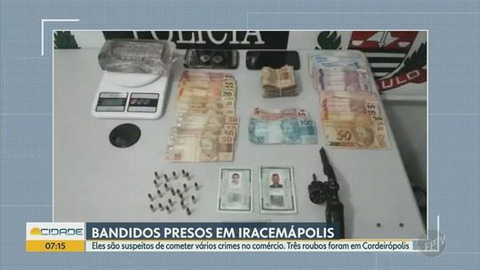 Três suspeitos de roubos a comércios de Cordeirópolis são presos