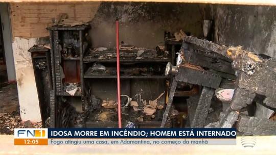 Incêndio em casa no Jardim  Bela Vista mata idosa de 88 anos,  em Adamantina