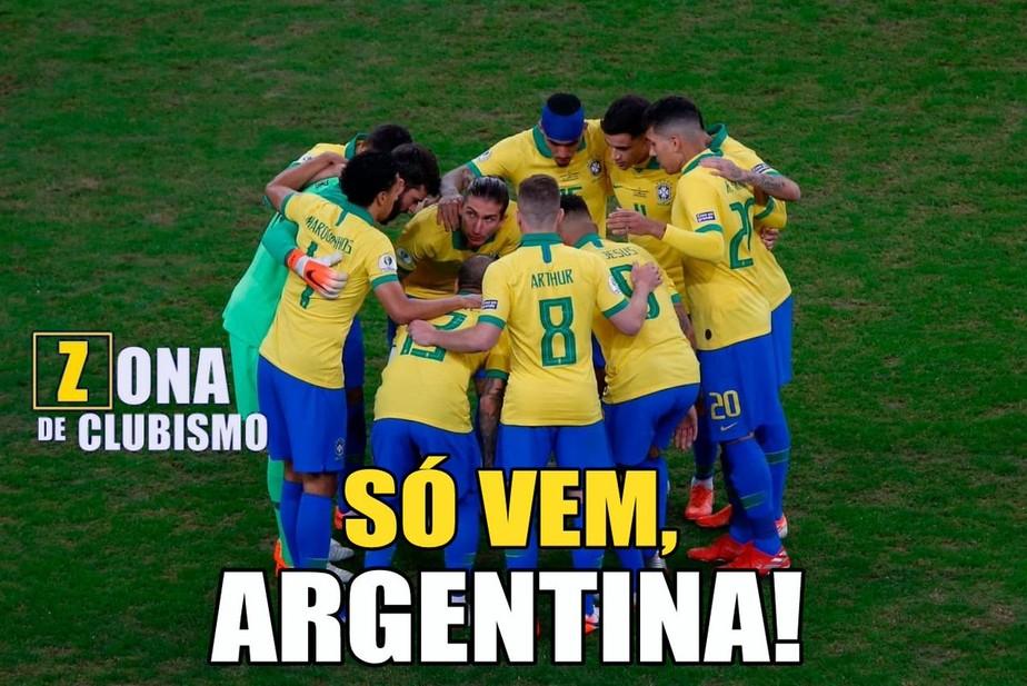 Redes sociais se enchem de memes com Brasil x Argentina na semifinal da Copa América