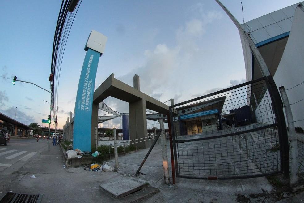 Terminal Integrado da IV Perimetral, no Recife, estava previsto para a Copa do Mundo no Brasil; quatro anos depois, obras não foram finalizadas (Foto: Marlon Costa/Pernambuco Press)