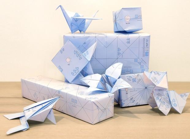 Papel de embrulho que vira Origami (Foto: Divulgação)
