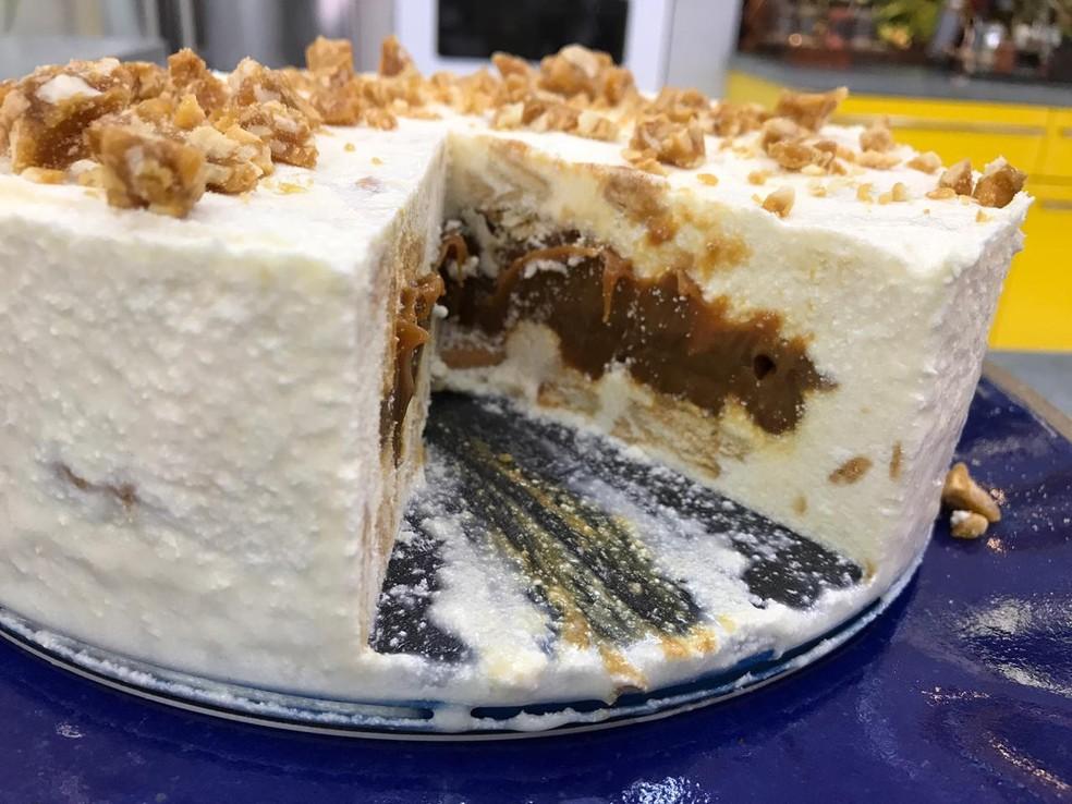 Torta Crocante de Doce de Leite é uma sobremesa de Ana Maria Braga — Foto: Dani Meira/Globo