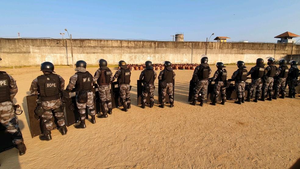 Bope deu apoio na operação — Foto: Polícia Civil/Divulgação