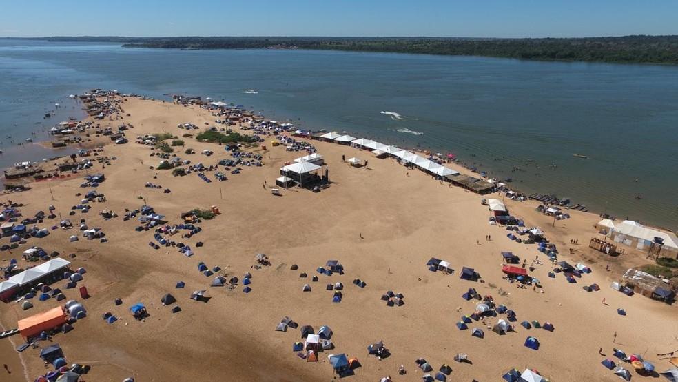 Praia do Pontão em Xinguara — Foto: Reprodução/Facebook