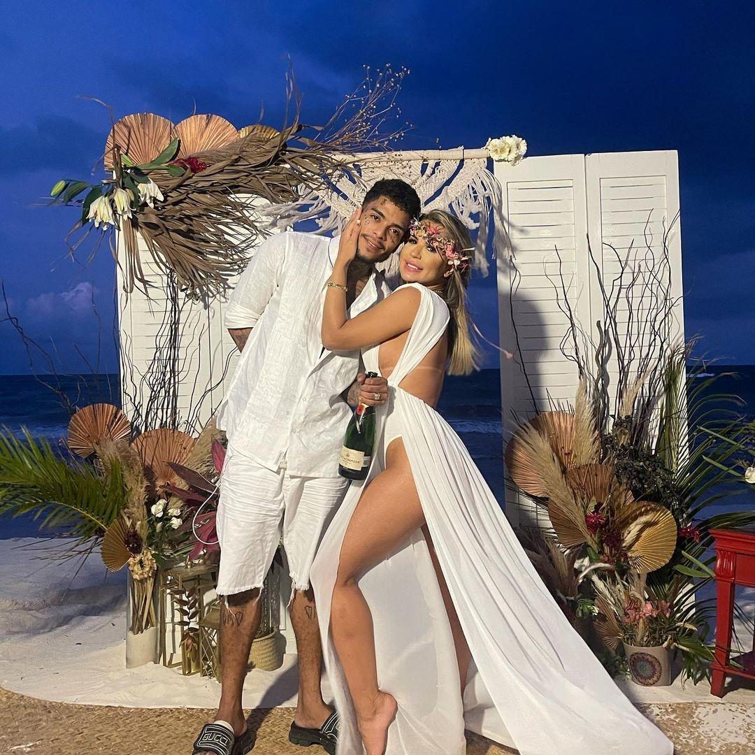M.C.  Kevin y Diolane Pescara se casan en México (Foto: Reproducción / Instagram)