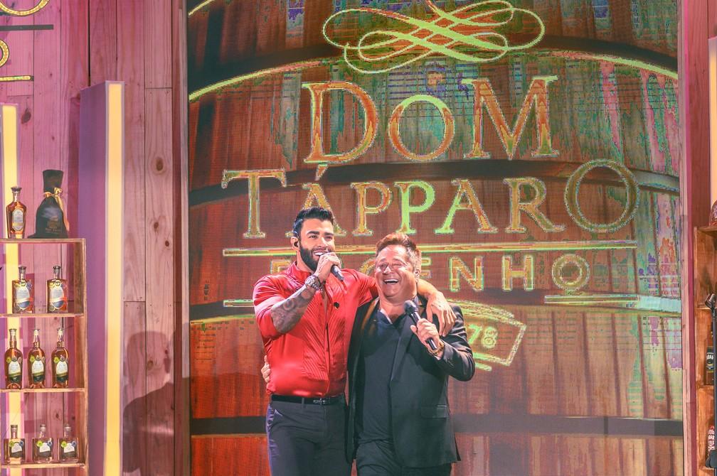 Gusttavo Lima e Leonardo se unem para live Cachaça e Cabaré 2 — Foto: Divulgação