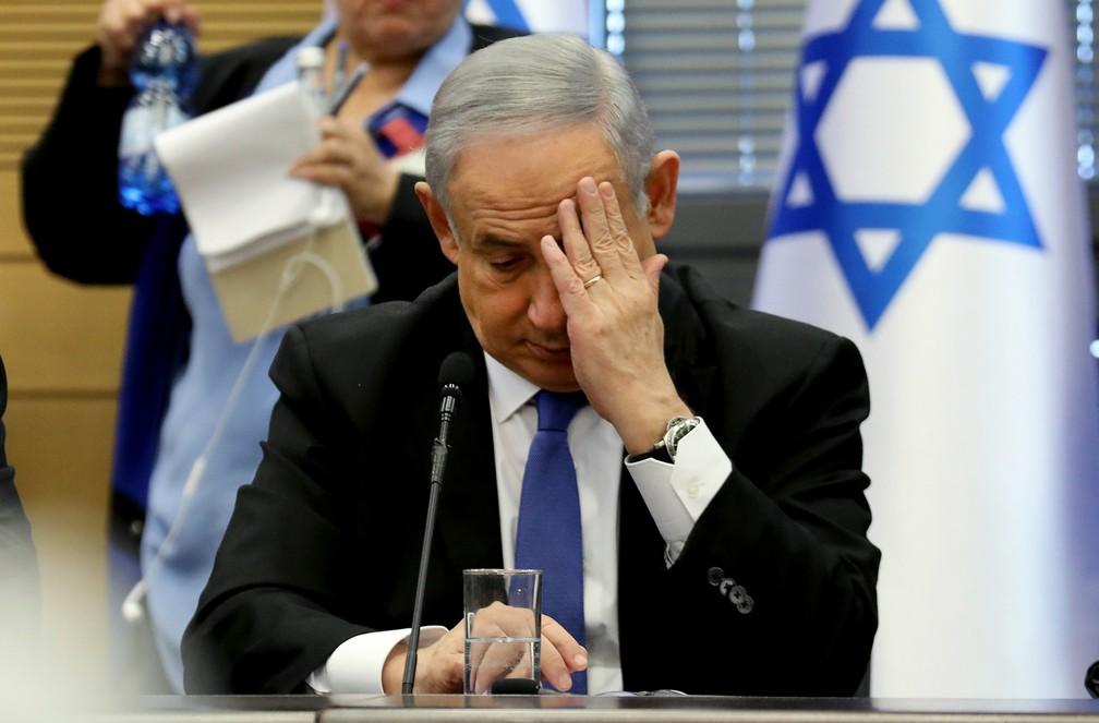 O primeiro-ministro israelense, Benjamin Netanyahu, em foto de 20 de novembro. — Foto: Gali Tibbon / AFP