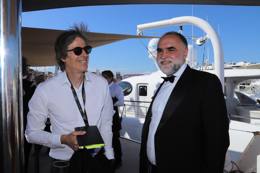 Walter Salles e Karim Aïnouz no Festival de Cannes — Foto: Soraya Ursine/Divulgação