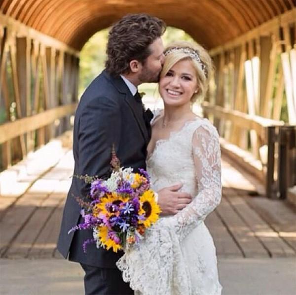 Kelly Clarkson e Brandon Blackstock em outubro de 2013 (Foto: Instagram)