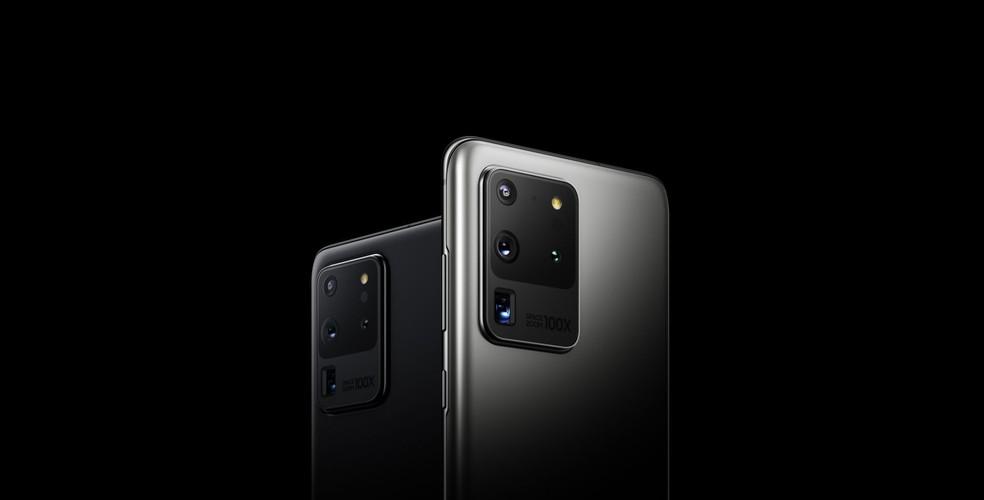 Família do Galaxy S20 lidera o ranking de celulares de ponta — Foto: Divulgação/Samsung