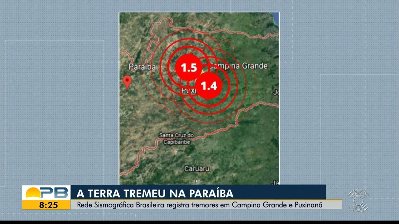 Tremor de terra em pequena escala é registrado em Campina Grande e Puxinanã